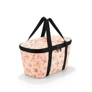 Reisenthel Termotaška Coolerbag XS kids cats and dogs rose